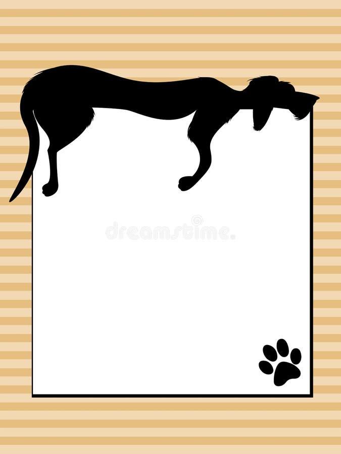 Download Lazy Dog Sign stock vector. Illustration of imprint, funny - 26648898