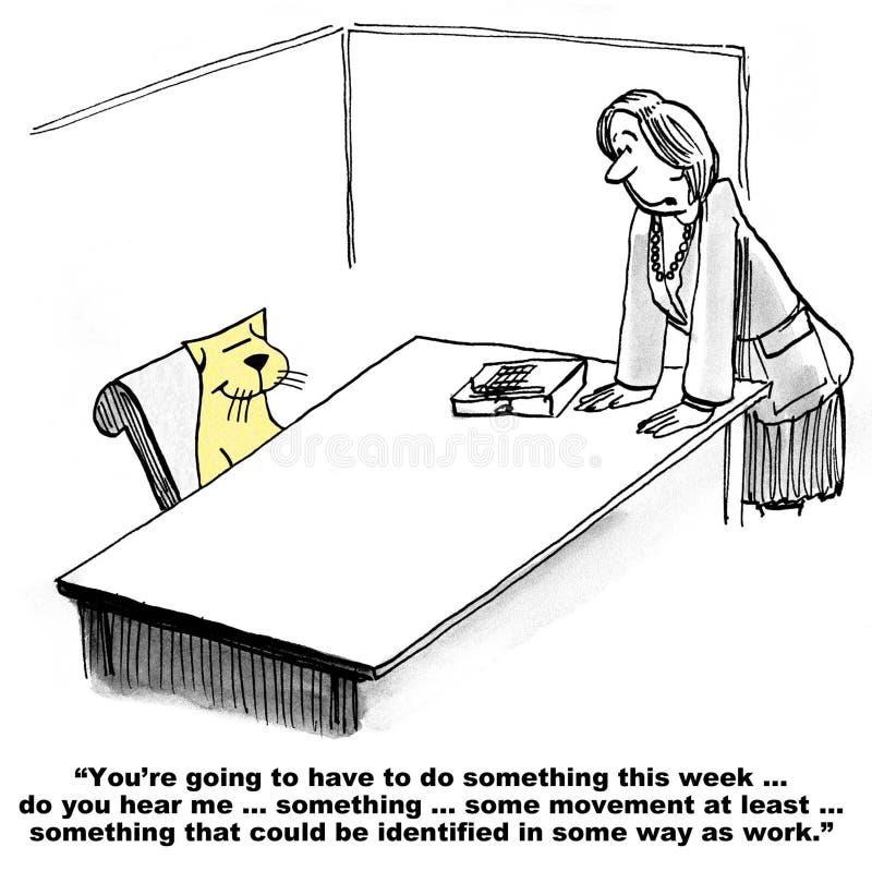 Lazy Employee vector illustration