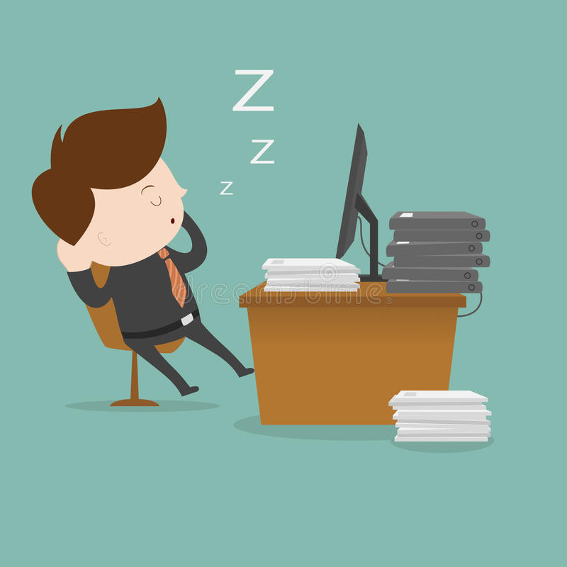 Lazy employee. stock illustration