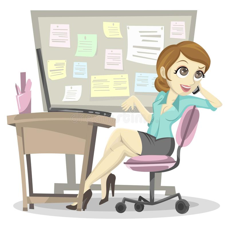 Lazy Employee. Not working at the office royalty free illustration