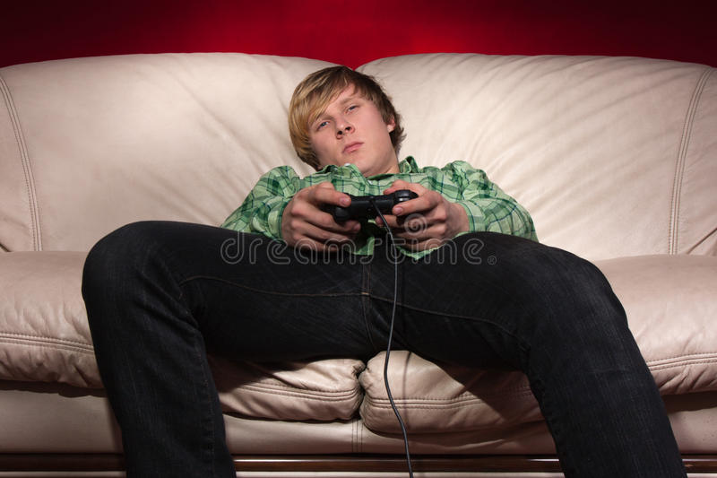 Lazy gaming stock images