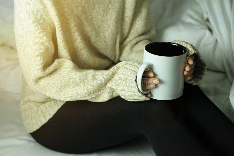 Lazy morning, Feeling warm concept. stock photos