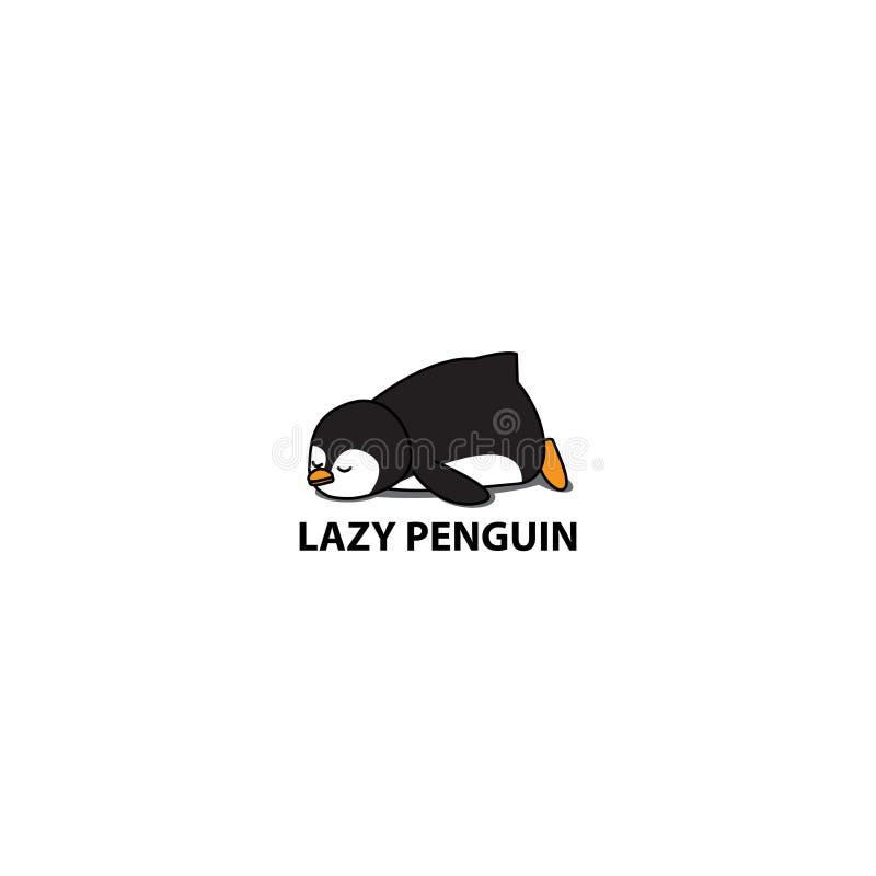 Lazy penguin sleeping icon, logo design. Lazy penguin icon, logo design, vector illustration vector illustration