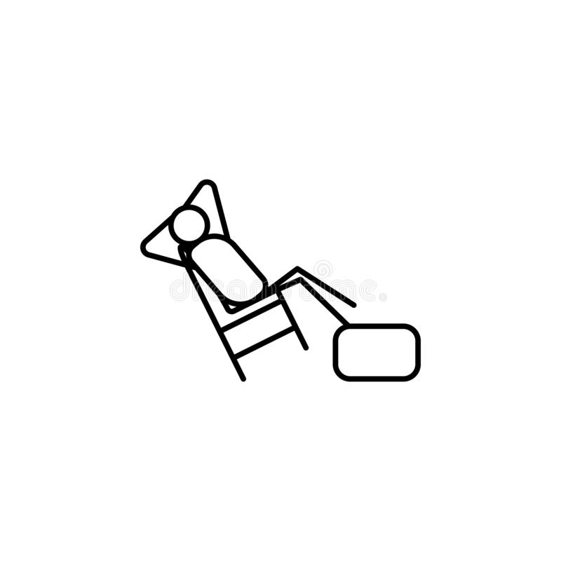 Lazy person outline icon. Element of lazy person icon for mobile concept and web apps. Thin line icon lazy person can be used for. Web and mobile on white vector illustration