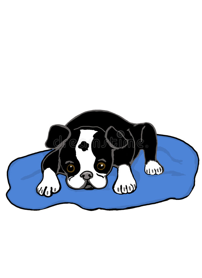 Download Lazy Puppy stock illustration. Image of sick, hand, illustration - 7047479