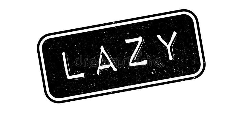 Lazy rubber stamp. On white. Print, impress overprint stock illustration