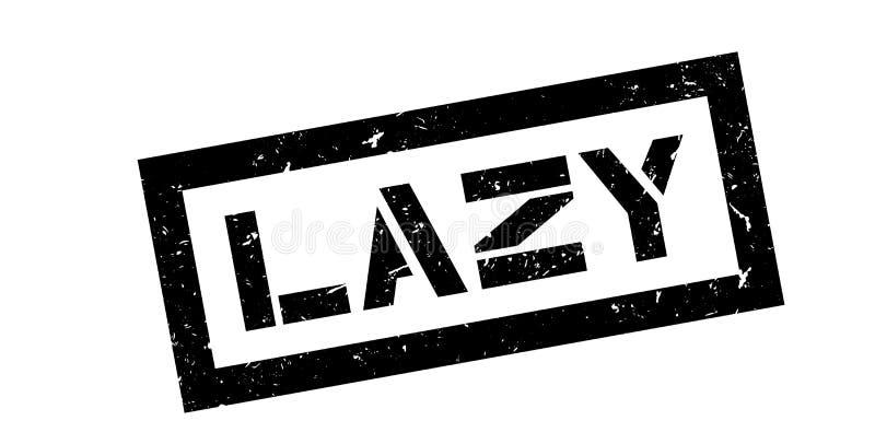 Lazy rubber stamp. On white. Print, impress overprint royalty free illustration
