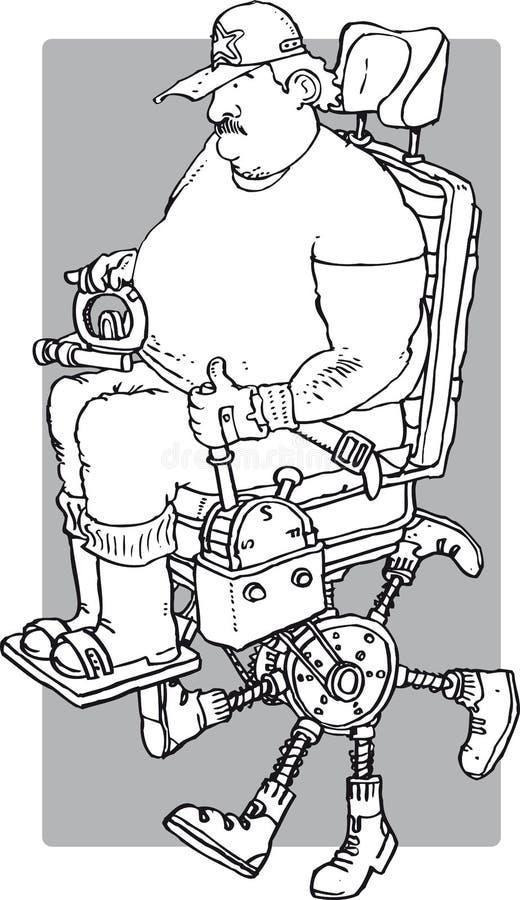 Lazy walker stock illustration