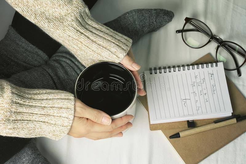 Lazy winter morning day. royalty free stock image