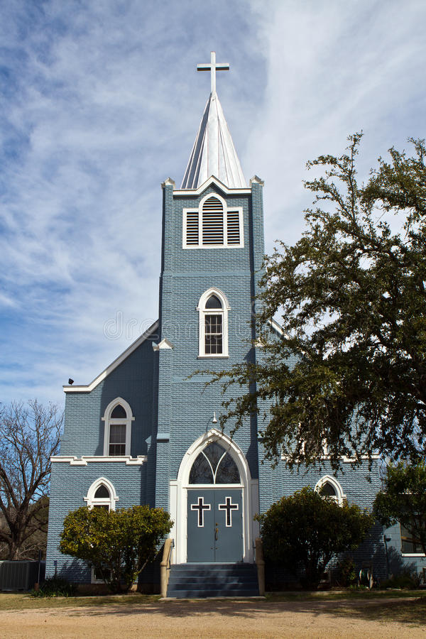LBJ大农场的路德教会 免版税库存图片