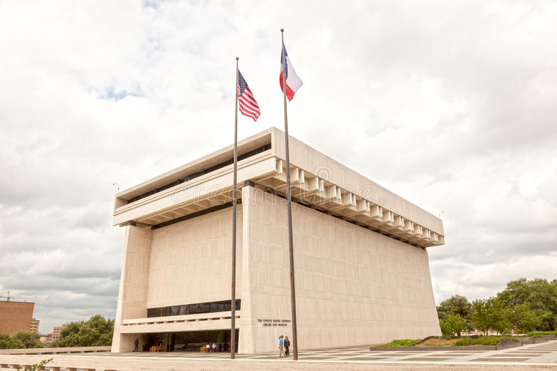 The LBJ Library and Museum in Austin, Texas. AUSTIN, USA - APR 10: The Lyndon Baines Johnson Library and Museum. April 10, 2016 in Austin, Texas, United States stock photo