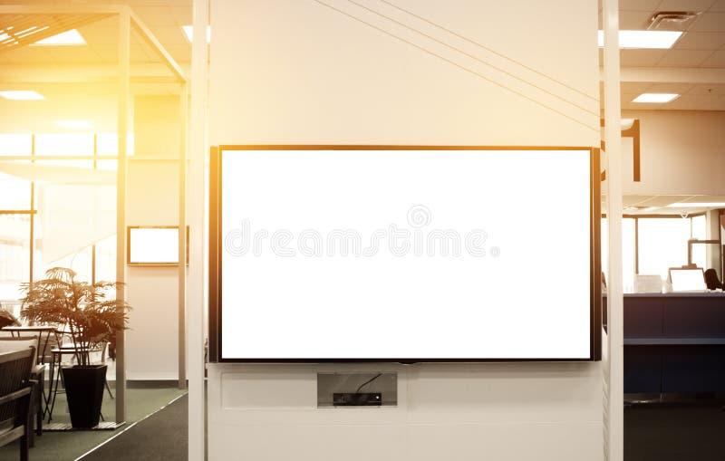 LCD删去拷贝空间的广告牌在您的正文消息或电视节目预告 免版税库存照片
