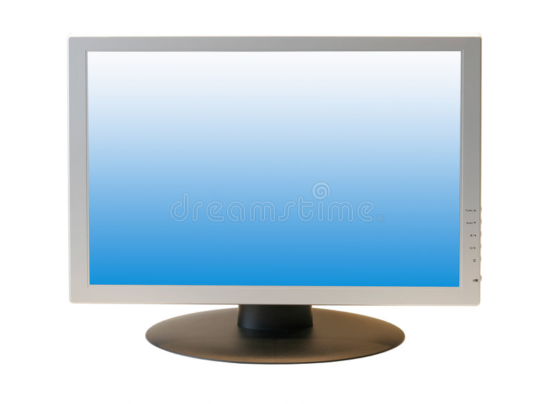 lcd宽显示器屏幕 图库摄影