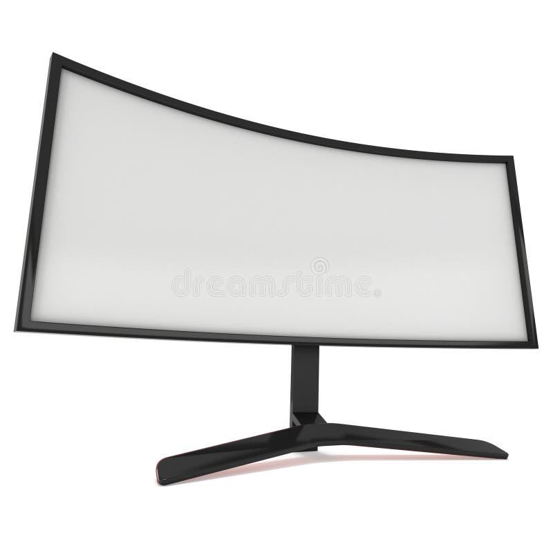 黑LCD电视屏幕 向量例证