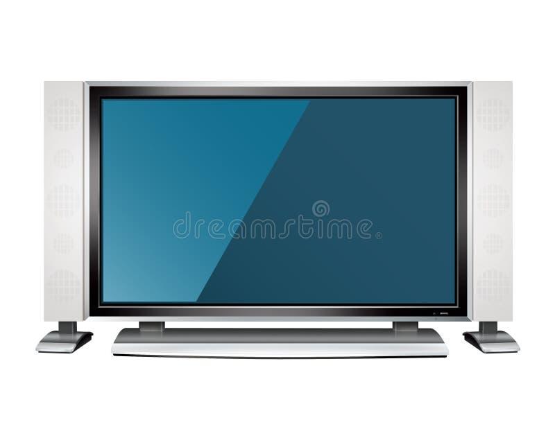 lcd电视 皇族释放例证