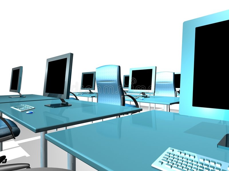 lcd监控程序办公室 向量例证