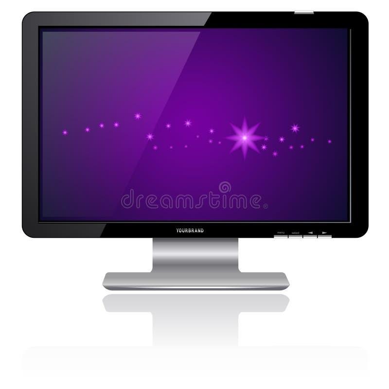 LCD überwachen Purpur