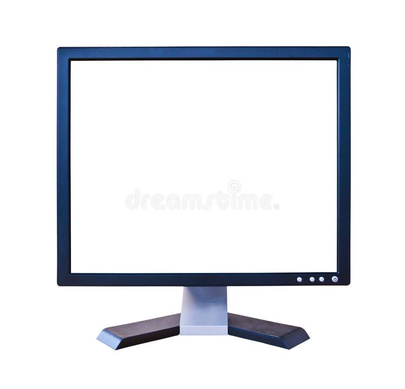 Lcd-Überwachungsgerät mit dem unbelegten Bildschirm getrennt stockbild