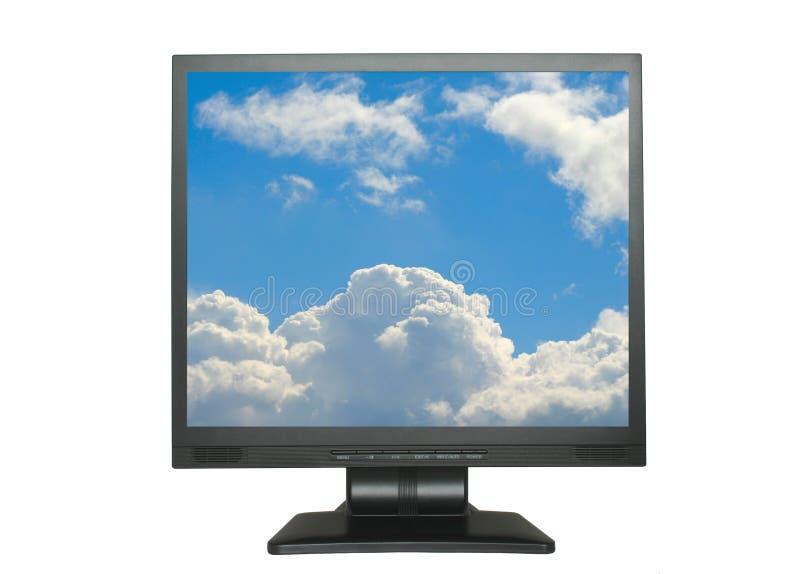 LCD aislado con el cielo fotografía de archivo libre de regalías
