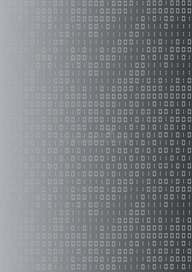 LCD binaire achtergrond stock illustratie