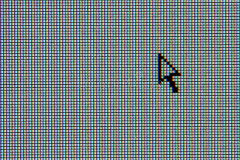 LCD computer monitor with arrow cursor