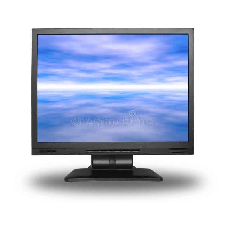 LCD con el cielo foto de archivo