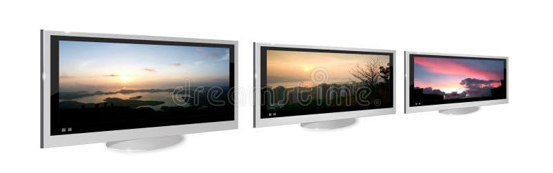 LCD de vertoning van TV royalty-vrije illustratie