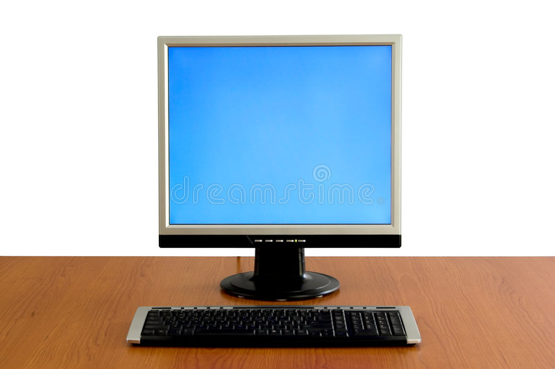 LCD display monitor royalty free stock image