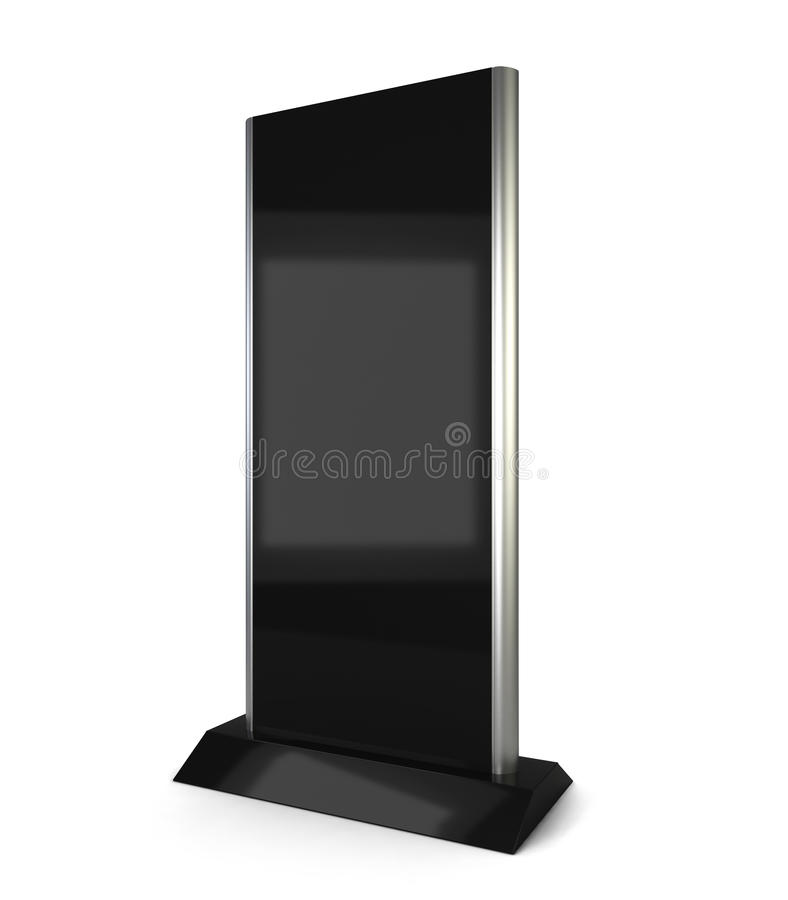 Lcd display stand stock illustration