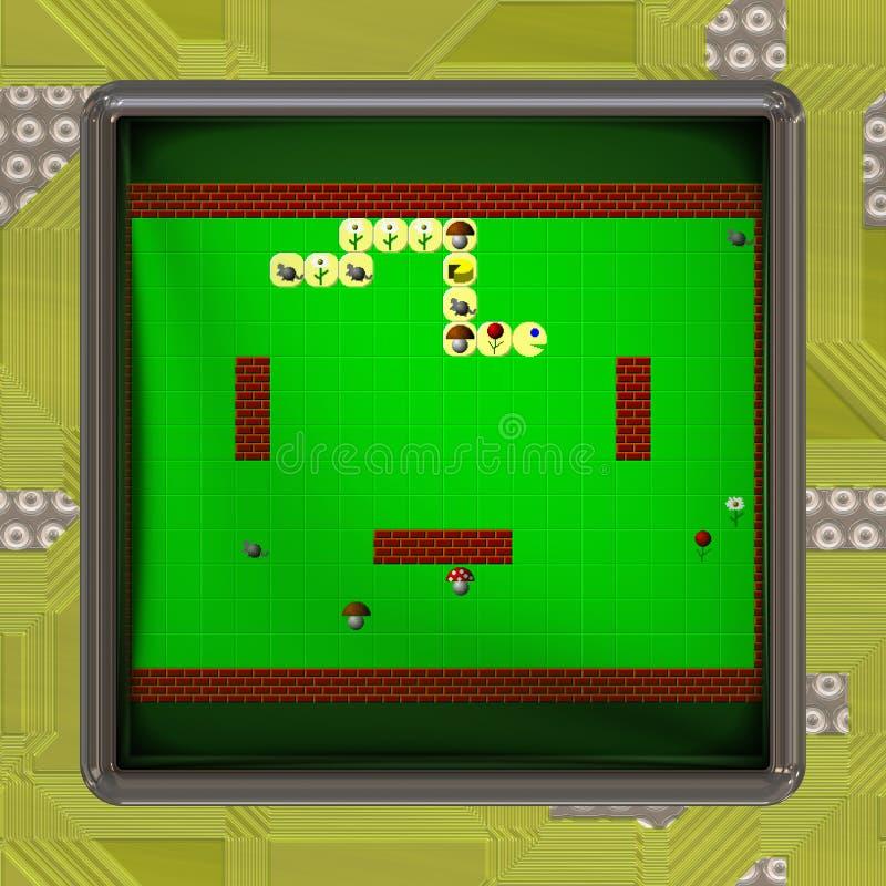 LCD ekran z retro stylową grze wytwarzał teksturę ilustracji