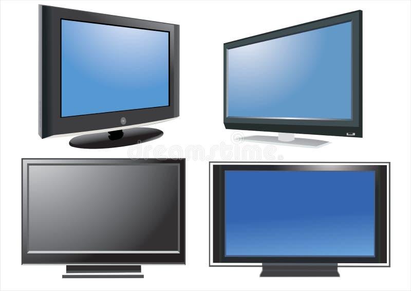 Lcd-Fernsehapparat vektor abbildung