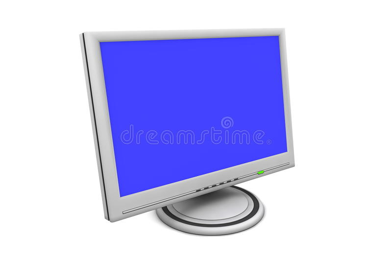 LCD Flat Screen Monitor vector illustration