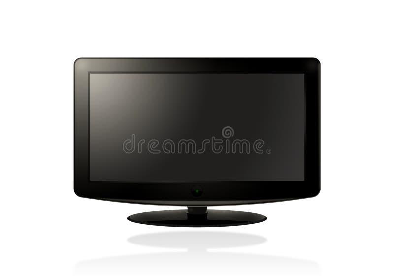 LCD HD (ZWARTE) TV vector illustratie