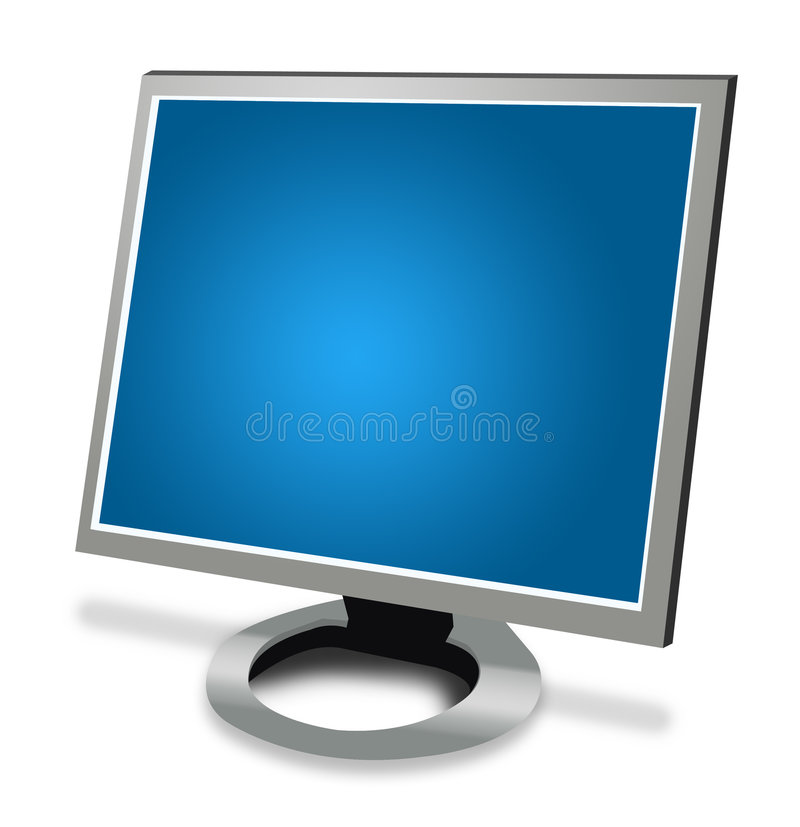 LCD het Scherm vector illustratie