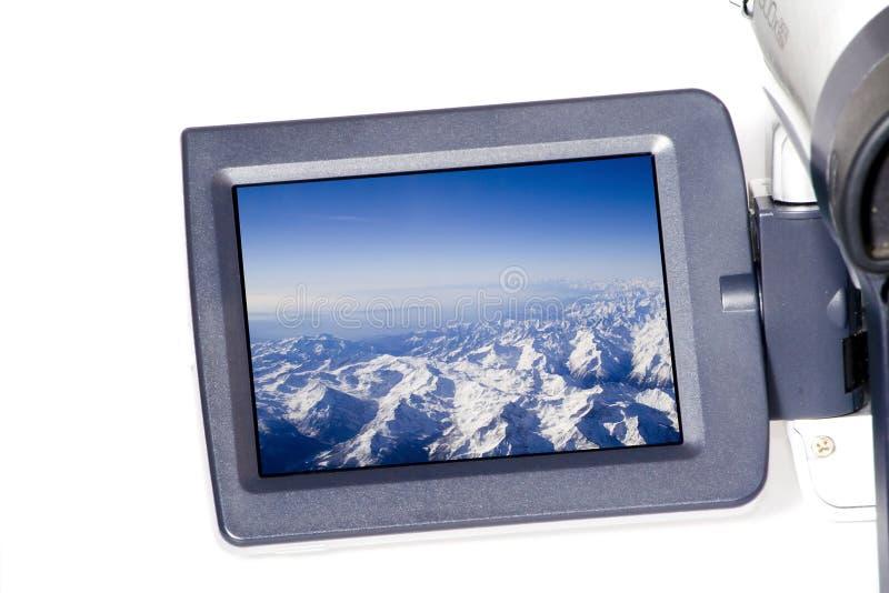 LCD het scherm stock afbeelding