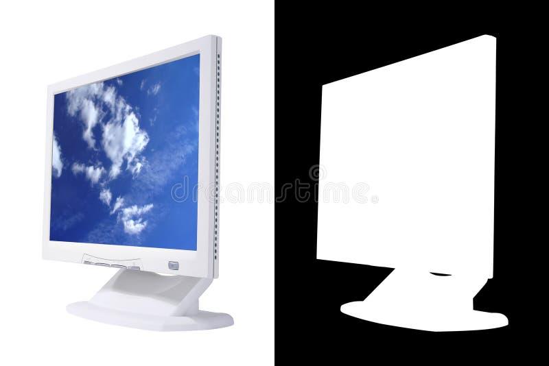 LCD Het Scherm Met Alpha- Stock Afbeelding