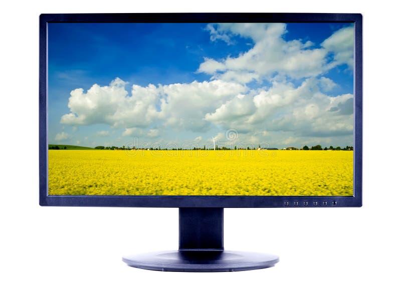 Lcd het TVscherm stock afbeeldingen