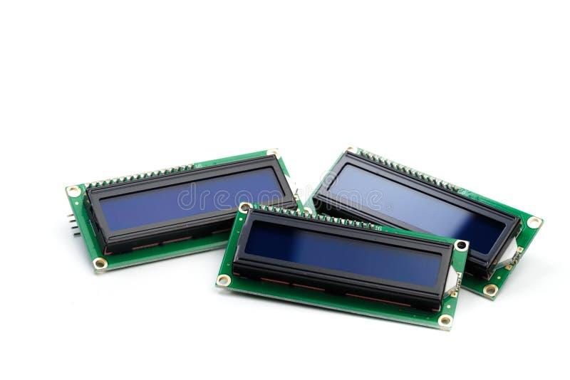 LCD indicator die op witte achtergrond wordt geïsoleerd royalty-vrije stock foto