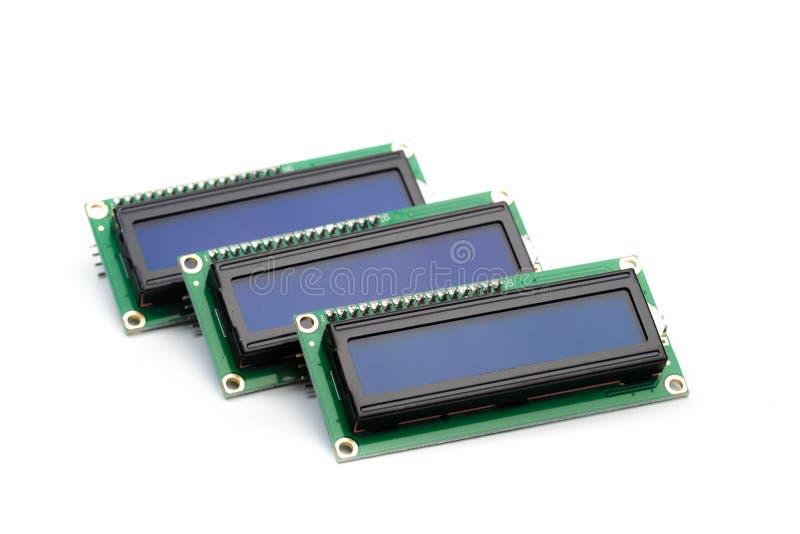 LCD indicator op witte achtergrond wordt geïsoleerd die royalty-vrije stock fotografie