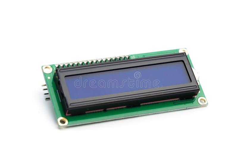LCD indicator op witte achtergrond wordt geïsoleerd die royalty-vrije stock foto