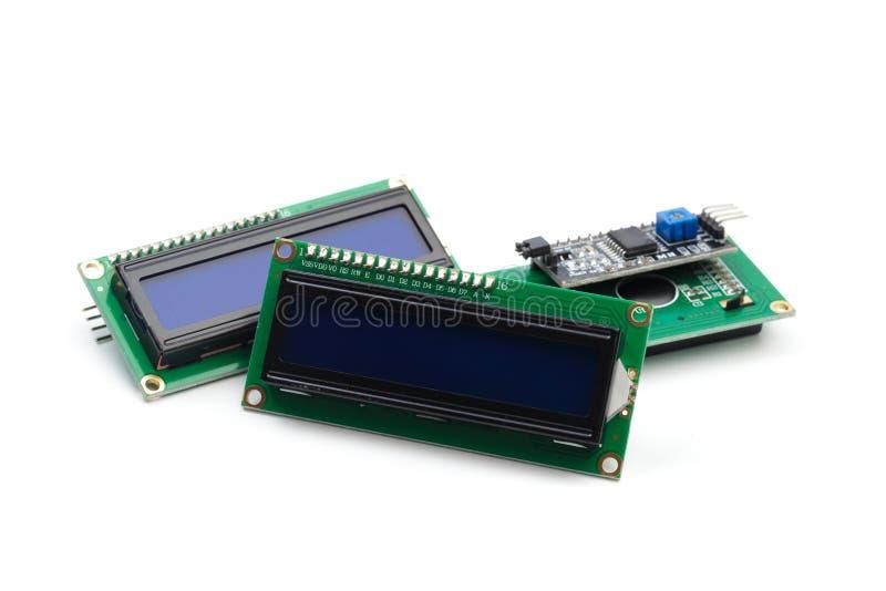 LCD indicator op witte achtergrond wordt geïsoleerd die royalty-vrije stock afbeelding