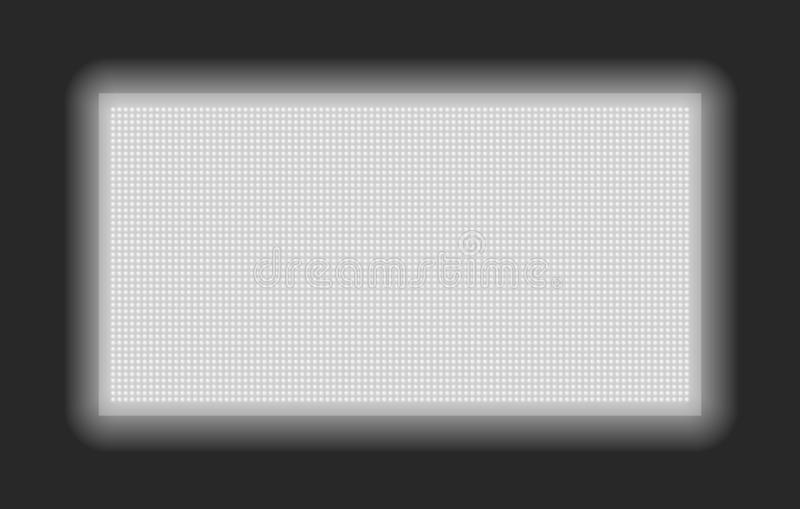 Lcd or led screen. Leds dot effect vector panel, dotted texture monitor display vector illustration