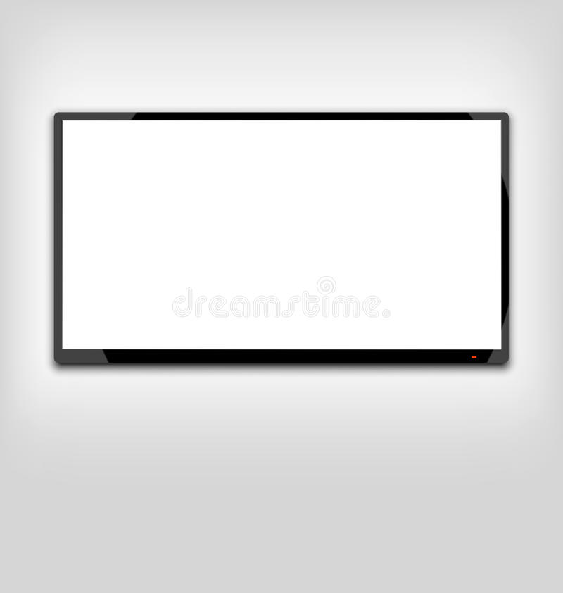 LCD or LED tv screen hanging on the wall. Illustration LCD or LED tv screen hanging on the wall - vector vector illustration