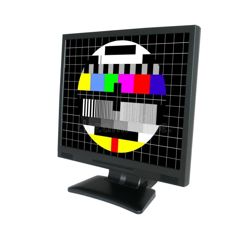 Lcd met het testscherm #2 royalty-vrije stock afbeelding