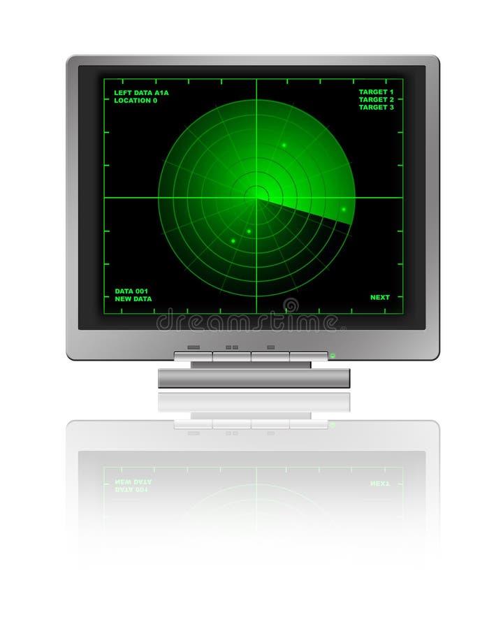 LCD met Radar vector illustratie