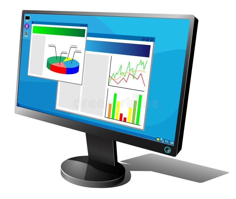 lcd monitor ilustracji