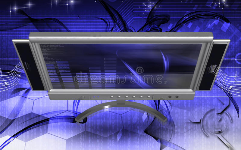 Download LCD Monitor stock illustration. Image of computing, technology - 18406563