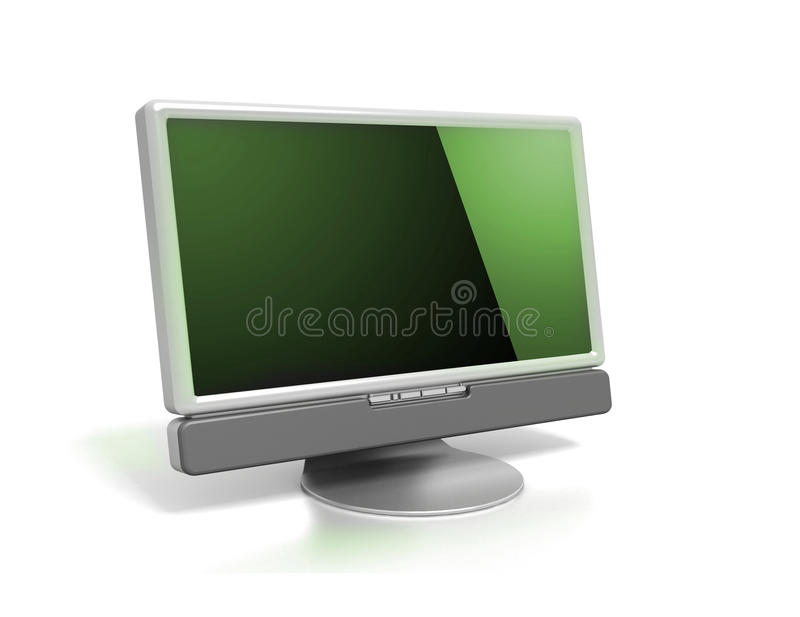 Download LCD monitor stock illustration. Image of futuristic, metal - 21133080