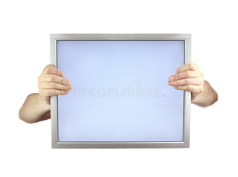 Download Lcd monitor stock image. Image of blank, occupation, office - 4523869