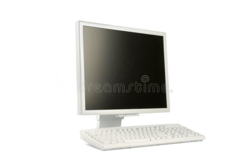 Lcd monitor en toetsenbord royalty-vrije stock afbeelding